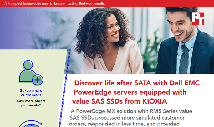 Principle Technologies: Discover Life After SATA with Dell EMC PowerEdge Servers Equipped with Value SAS SSDs from KIOXIA (Full Report)