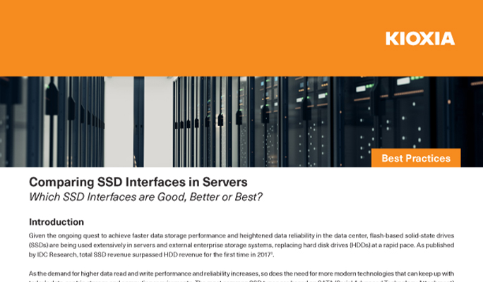 Comparing SSD Interfaces in Servers (Best Practices)