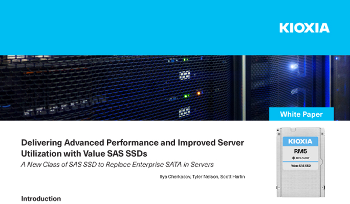 Delivering Advanced Performance and Improved Server Utilization with Value SAS SSDs (White Paper)
