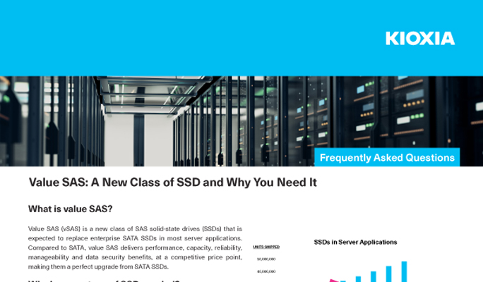 Value SAS: A New Class of SSD and Why You Need It (FAQs)