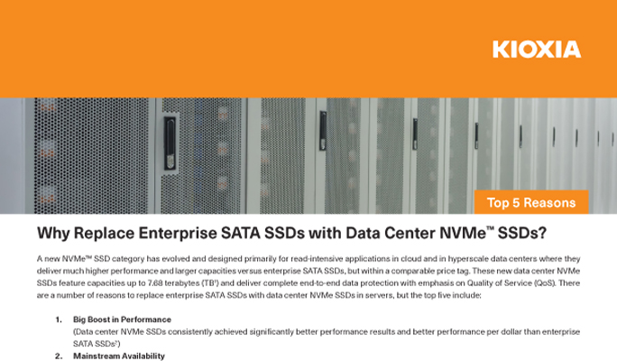 Why Replace Enterprise SATA SSDs with Data Center NVMe SSDs (Top 5 Reasons)